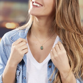 Collier Plaque Or Veina  Aventurine Verte - Bijoux Femme | Histoire d'Or