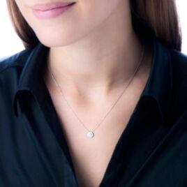 Collier Shalaina Or Blanc Diamant - Bijoux Femme | Histoire d'Or