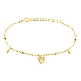 Bracelet Zena Argent Jaune Oxyde De Zirconium - Bracelets Plume Femme   Histoire d'Or