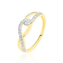 Bague Osanna Or Jaune Diamant - Bagues avec pierre Femme | Histoire d'Or