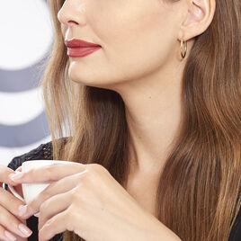 Créoles Cayla Diamantees Fil Rond Or Jaune - Boucles d'oreilles créoles Femme | Histoire d'Or