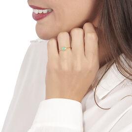 Bague Janah Or Jaune Emeraude Et Diamant - Bagues avec pierre Femme   Histoire d'Or