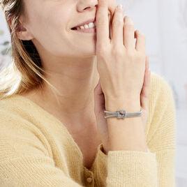 Bracelet Mahaca Acier Blanc - Bracelets fantaisie Femme   Histoire d'Or