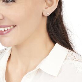 Boucles D'oreilles Puces Eloane Triangle Or Jaune Oxyde De Zirconium - Clous d'oreilles Femme   Histoire d'Or