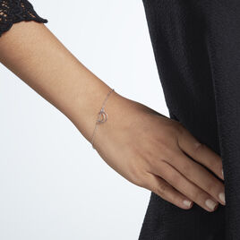 Bracelet Myel Argent Rhodié - Bracelets Lune Femme | Histoire d'Or