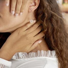 Boucles D'oreilles Pendantes Chimere Argent Blanc Oxyde De Zirconium - Boucles d'Oreilles Arbre de vie Femme   Histoire d'Or