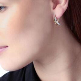 Créoles Or Et Strass - Boucles d'oreilles créoles Femme | Histoire d'Or