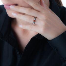 Bague Lexina Or Rose Rubis Et Diamant - Bagues solitaires Femme | Histoire d'Or