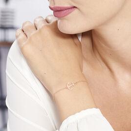 Bracelet Sacha Argent Rose - Bijoux Ancre Femme | Histoire d'Or