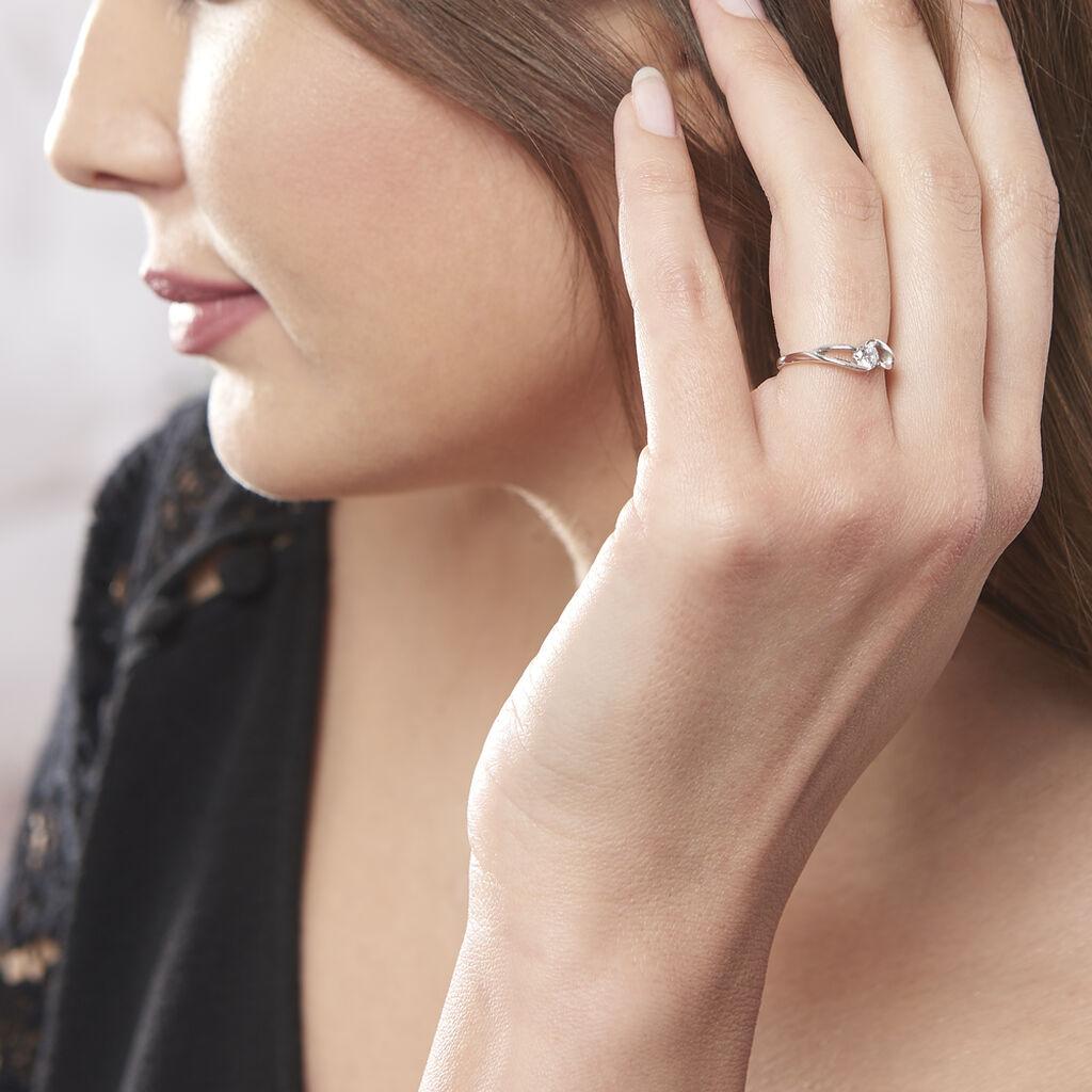 Bague Lysie Argent Blanc Oxyde De Zirconium - Bagues solitaires Femme | Histoire d'Or