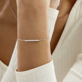 Bracelet Katell Argent Blanc - Bracelets fantaisie Femme | Histoire d'Or