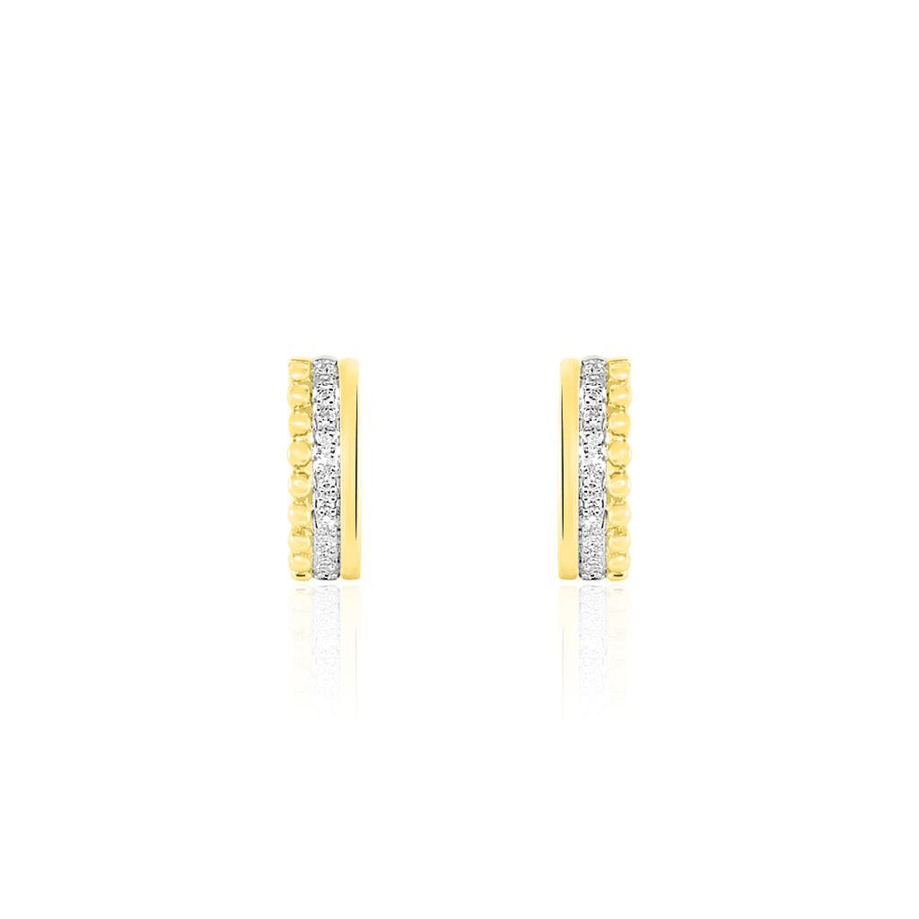 Boucles D'oreilles Puces Marcianne Or Jaune Diamant - Clous d'oreilles Femme | Histoire d'Or