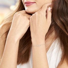 Bracelet Nouhayla Argent Blanc - Bracelets fantaisie Femme   Histoire d'Or