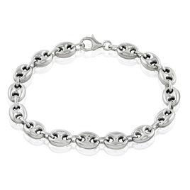 Bracelet Carrus Maille Grain De Cafe Argent Blanc - Bracelets chaîne Femme | Histoire d'Or