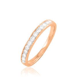 Alliance Collection Juliette Or Rose Diamant - Alliances Femme   Histoire d'Or
