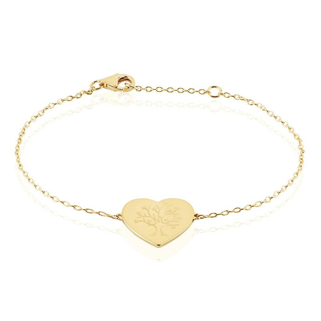 Bracelet Rauline Plaque Or Jaune - Bracelets Arbre de vie Femme | Histoire d'Or