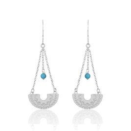 Boucles D'oreilles Pendantes Oneida Argent Blanc - Boucles d'Oreilles Lune Femme | Histoire d'Or