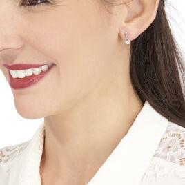 Boucles D'oreilles Puces Shaeen Or Blanc Diamant - Clous d'oreilles Femme | Histoire d'Or