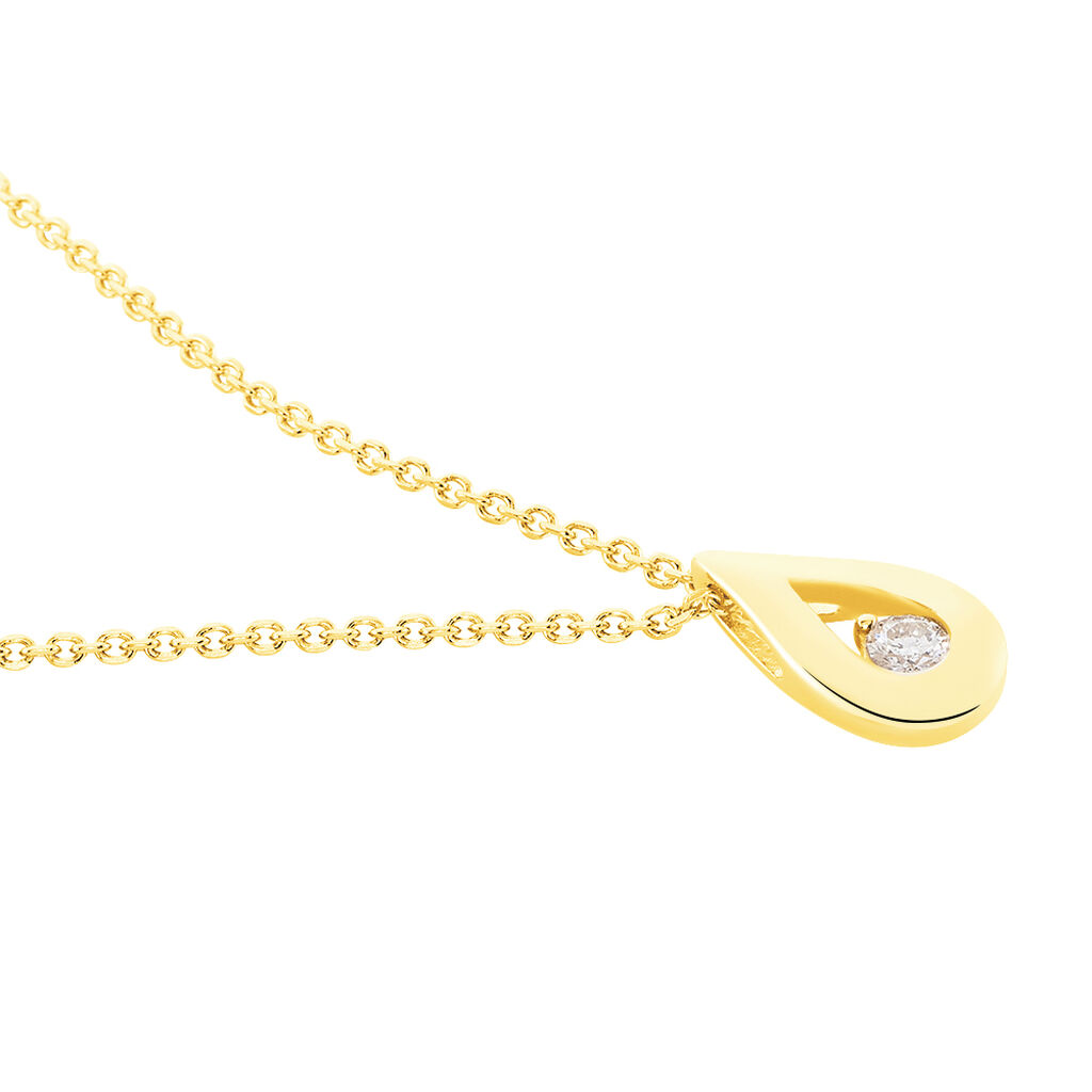 Collier Purete Or Jaune Diamant