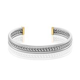 Bracelet Jonc Ouvert Acier Blanc Winnoc - Bracelets fantaisie Homme | Histoire d'Or