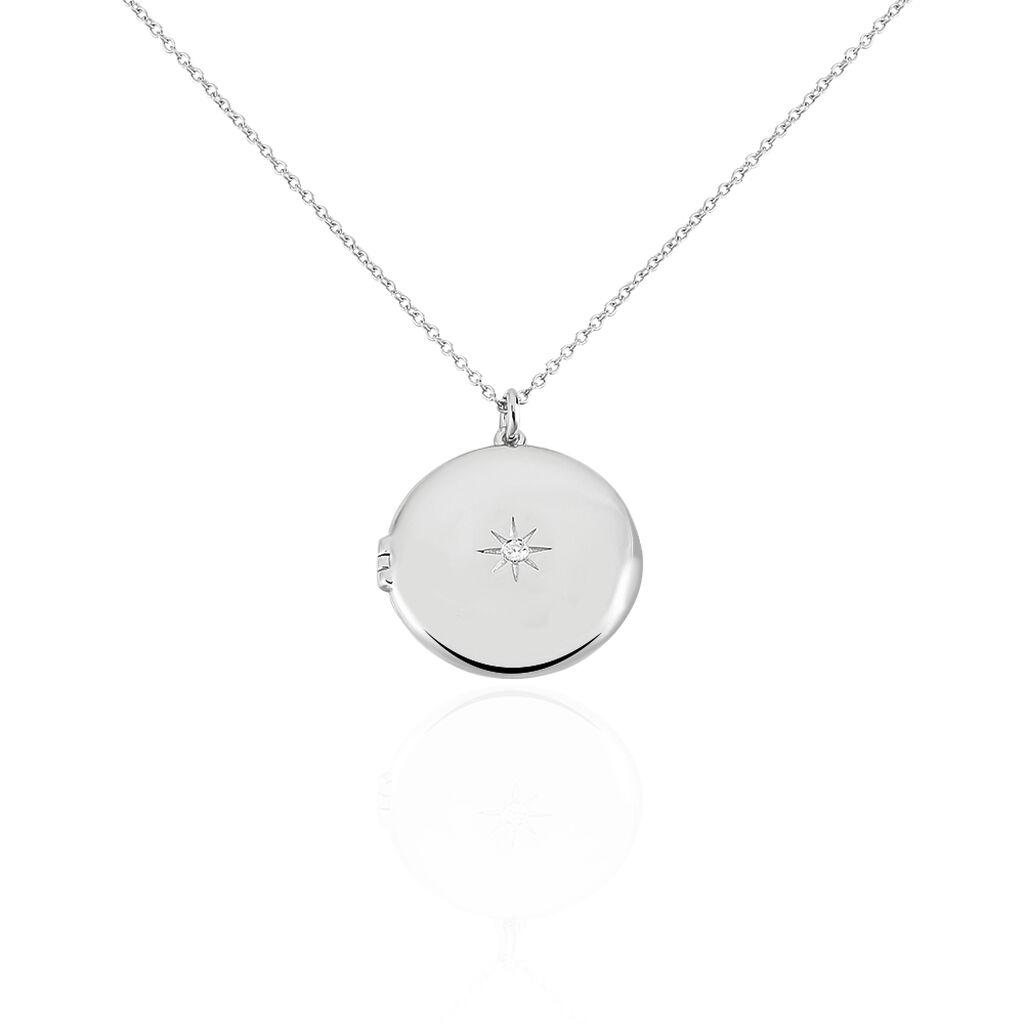 Collier Cahida Argent Blanc Oxyde De Zirconium - Colliers Etoile Femme   Histoire d'Or