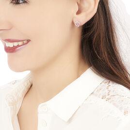 Boucles D'oreilles Pendantes Tie And Dye Or Rose Amethyste Et Diamant - Boucles d'oreilles pendantes Femme | Histoire d'Or