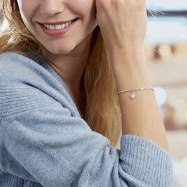 Bracelet Sascha Argent Blanc Oxyde De Zirconium - Bijoux Etoile Femme | Histoire d'Or