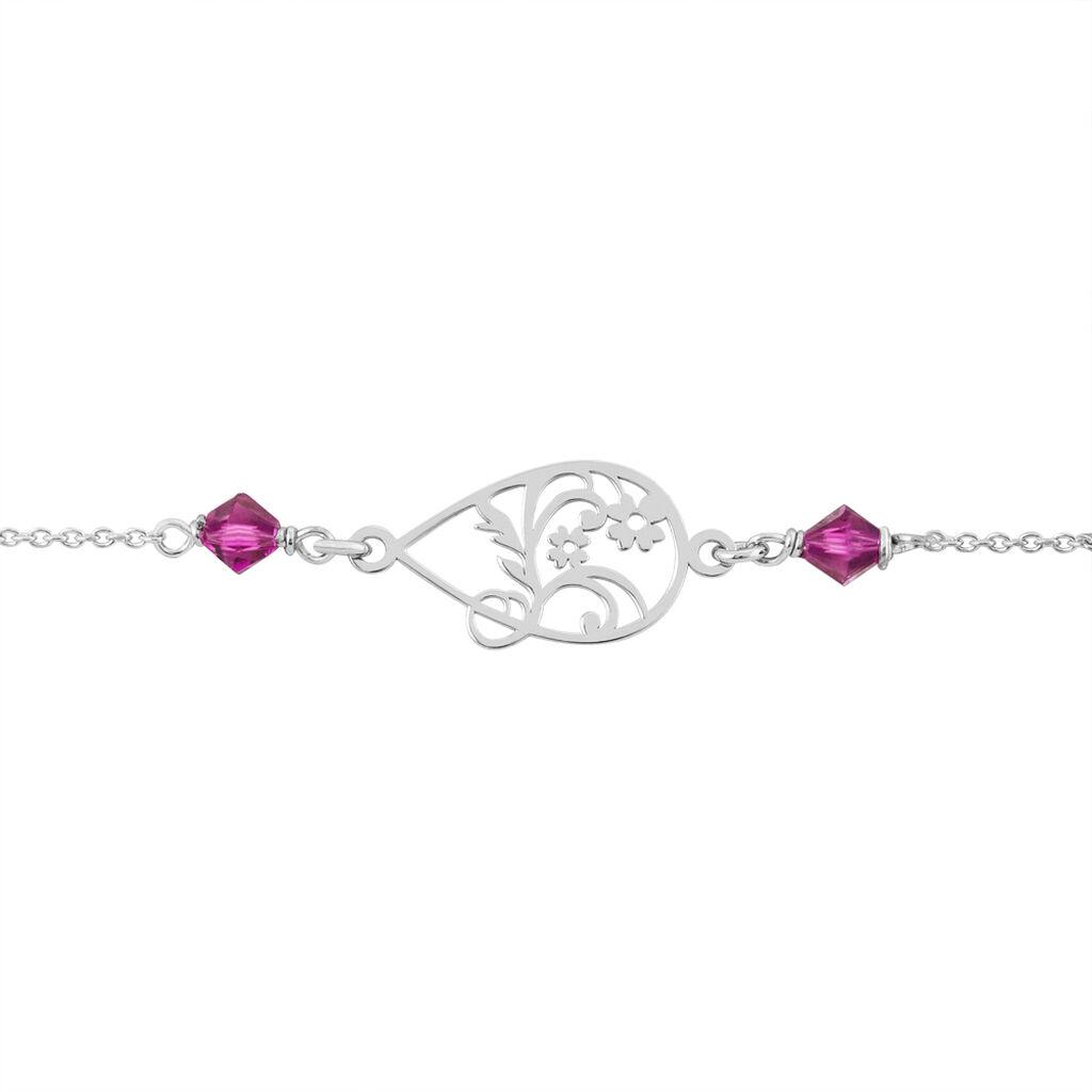 Bracelet Oumoul Argent Blanc Pierre De Synthese - Bracelets fantaisie Femme   Histoire d'Or