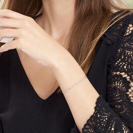 Bracelet Tinou Argent Blanc - Bracelets fantaisie Femme   Histoire d'Or