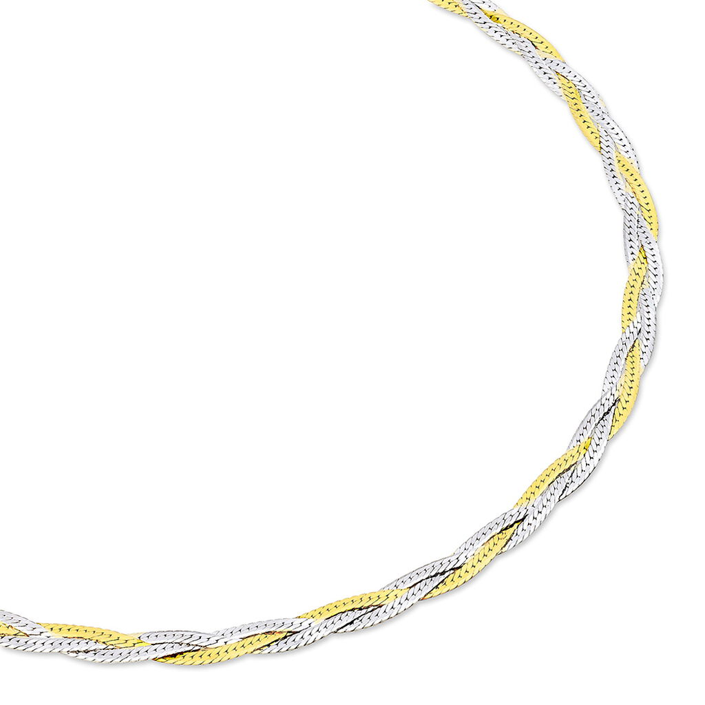 Chaîne Elae Maille Tresse Argent Bicolore - Chaines Femme | Histoire d'Or
