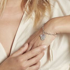 Bracelet Disney Acier Blanc Cristaux - Bracelets fantaisie Femme   Histoire d'Or