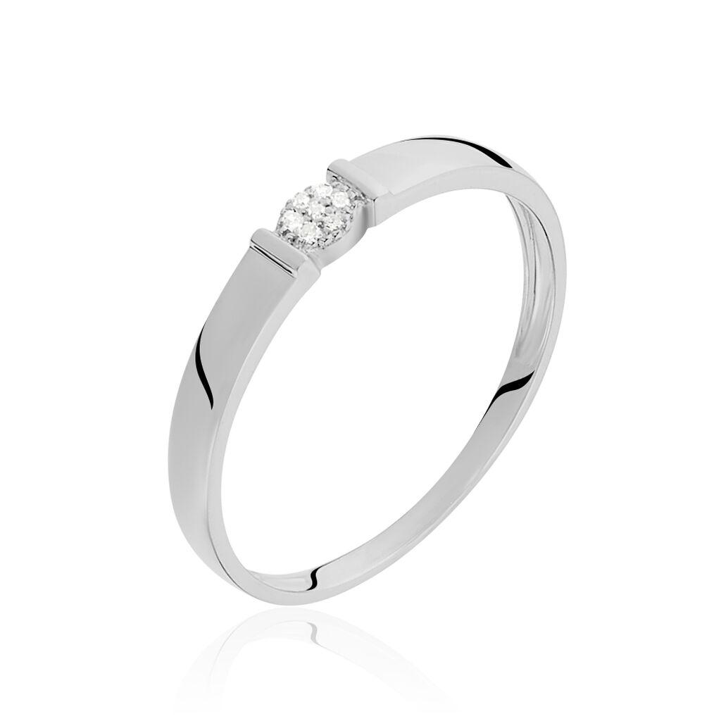 Bague Daliane Or Blanc Diamant - Bagues avec pierre Femme | Histoire d'Or