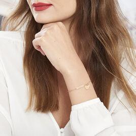 Bracelet Dreaming Argent Rose Oxyde De Zirconium - Bracelets Coeur Femme | Histoire d'Or