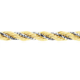 Collier Jerry Maille Corde Et Venitienne Or Bicolore - Chaines Femme | Histoire d'Or