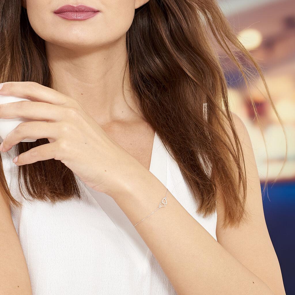 Bracelet Eleno Or Blanc - Bracelets Coeur Femme   Histoire d'Or