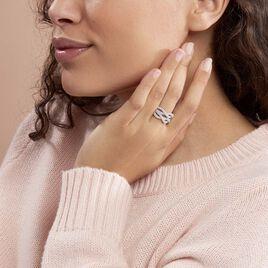 Bague Ireneo Argent Blanc Oxyde De Zirconium - Bagues avec pierre Femme | Histoire d'Or