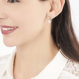 Boucles D'oreilles Pendantes Naellya Plaque Or Oxyde De Zirconium - Boucles d'oreilles fantaisie Femme   Histoire d'Or