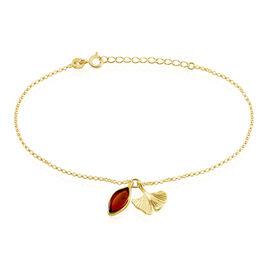 Bracelet Adriaa Argent Jaune Ambre - Bracelets fantaisie Femme | Histoire d'Or