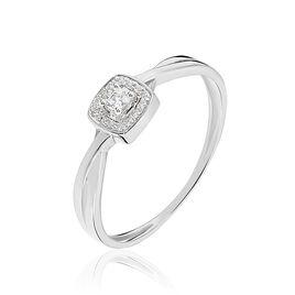 Bague Abani Or Blanc Diamant - Bagues solitaires Femme | Histoire d'Or