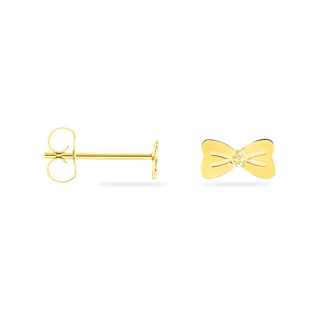 Boucles D'oreilles Puces Evonne Noeud Or Jaune - Clous d'oreilles Enfant | Histoire d'Or