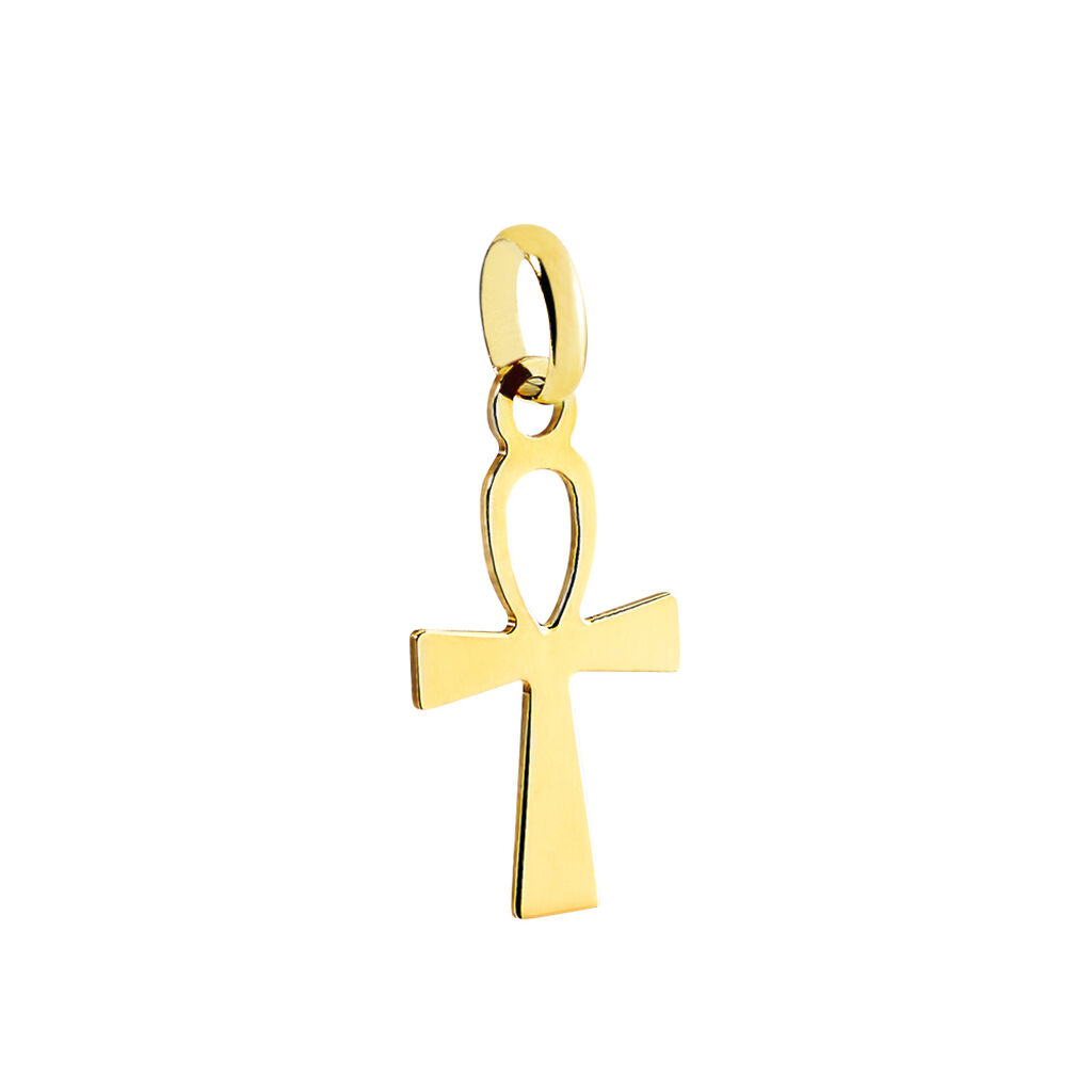 Pendentif Basilissa Croix De Vie Or Jaune - Pendentifs Croix Unisexe   Histoire d'Or
