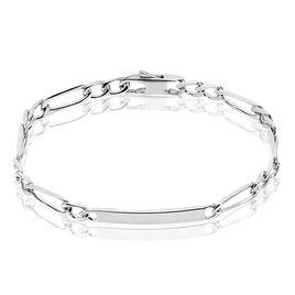 Gourmette Argent Maille Alternés 1/2 - Bracelets fantaisie Femme | Histoire d'Or