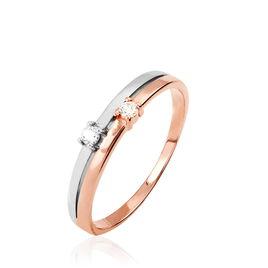 Bague Jody Or Bicolore Diamant - Bagues avec pierre Femme | Histoire d'Or