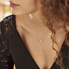 Collier Or Jaune Helisende Diamants - Colliers Coeur Femme | Histoire d'Or