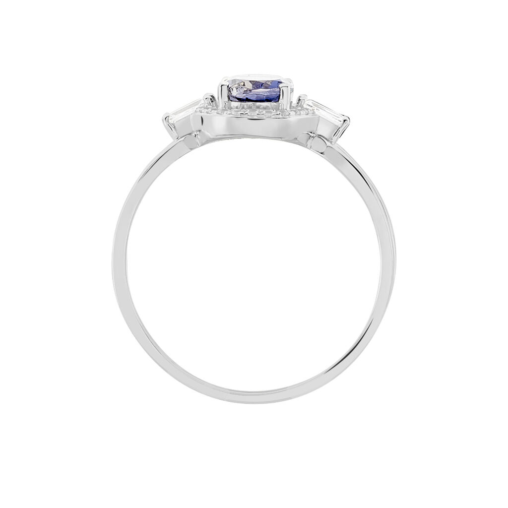 Bague Dally Or Blanc Oxyde De Zirconium Iolite