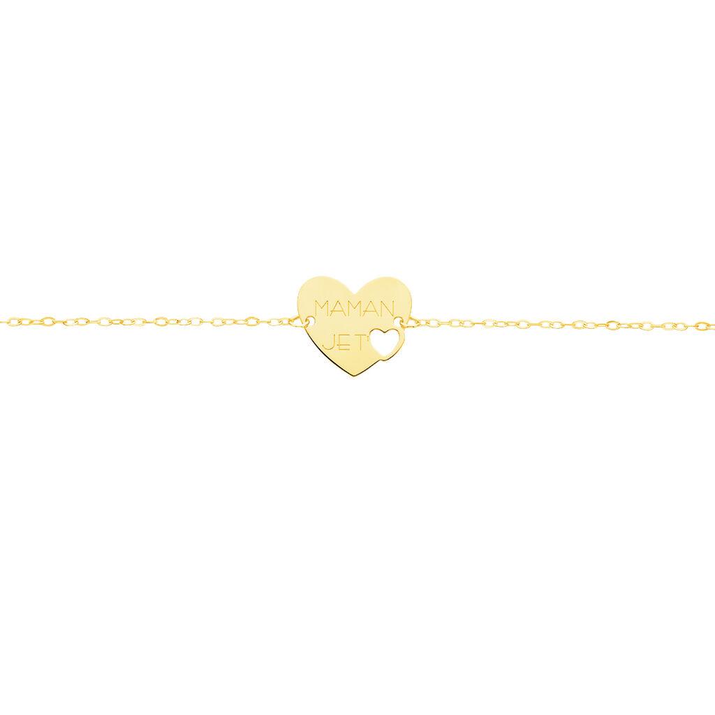 Bracelet Saren Or Jaune - Bracelets Coeur Femme | Histoire d'Or