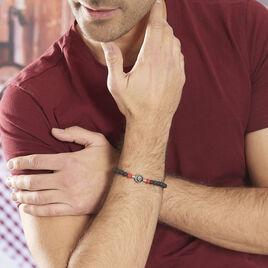 Bracelet Lysane Acier Blanc Pierre De Synthese Et Olivine - Bracelets fantaisie Homme   Histoire d'Or