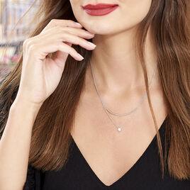 Collier Ruth Argent Blanc Oxyde De Zirconium - Colliers doubles et triples chaînes Femme | Histoire d'Or