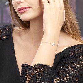 Bracelet Dafne Argent Blanc - Bracelets Coeur Femme   Histoire d'Or