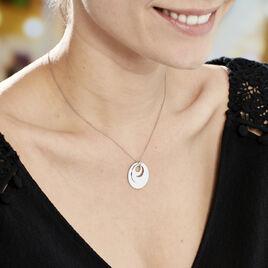 Collier Abyae Argent Blanc - Colliers fantaisie Femme | Histoire d'Or